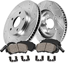 Callahan CDS03191 FRONT 304mm D/S 5 Lug [2] Rotors + Brake Pads + Clips + Sensors [for Mercedes E320 E350 Sedan 4Matic]