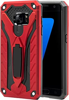 AFARER Samsung Galaxy S7 case,Military Grade 12ft Drop Tested Protective Case with Kickstand,Military Armor Dual Layer Protective Cover Compatible with Samsung Galaxy S7 5.1 inch Red