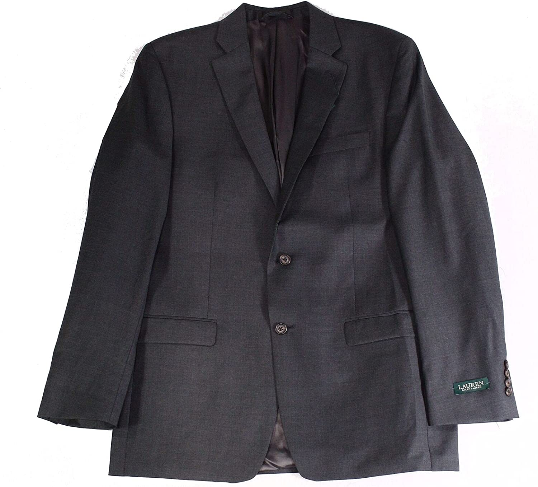 Lauren by Ralph Lauren Men's Suit Jacket Flex Wool Gray 40