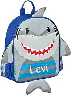 Stephen Joseph Personalized Little Boys' Mini Sidekick Shark Backpack With Name