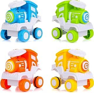 BBLIKE Toys Car , 4 Packs Monster Trucks Toys for Kids, Friction Powered Push and Go Cars for 1 2 3 Year Old Boys & Girls Gift