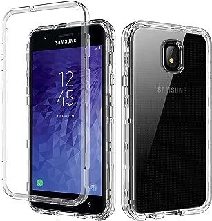 YINLAI Clear Case for Galaxy J7 2018/J7 Aero/J7 Refine/J7 Star/J7V/J7V 2nd Gen,3 in 1 Heavy Duty Shockproof Full Body Protective Hybrid PC TPU Bumper Transparent Phone Cover for Samsung J72018,Crystal