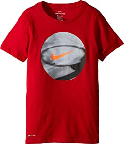 Nike Kids Dry Photo Basketball Tee (Little Kids/Big Kids)