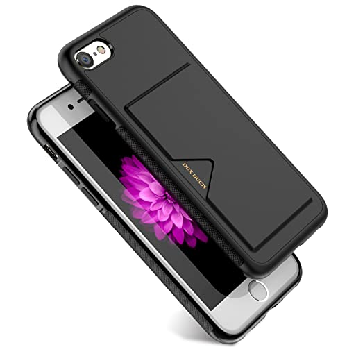 c8277ae48b iPhone6 ケース / iPhone6s ケース 薄型 ICカード収納 TPU+革製 耐衝撃 滑り防止