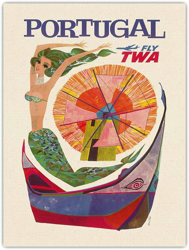 Pacifica Island Limited time cheap sale Factory outlet Art Portugal Fly TWA Trans Airlines - World Me