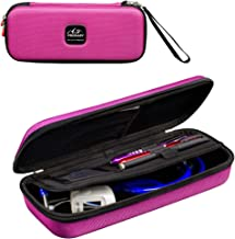 Prohapi Hard Stethoscope Case with ID Slot Compatible with 3M Littmann/ADC/Omron Stethoscope Includes Mesh Pocket for Nurse Accessories (Bubble Gum Pink)