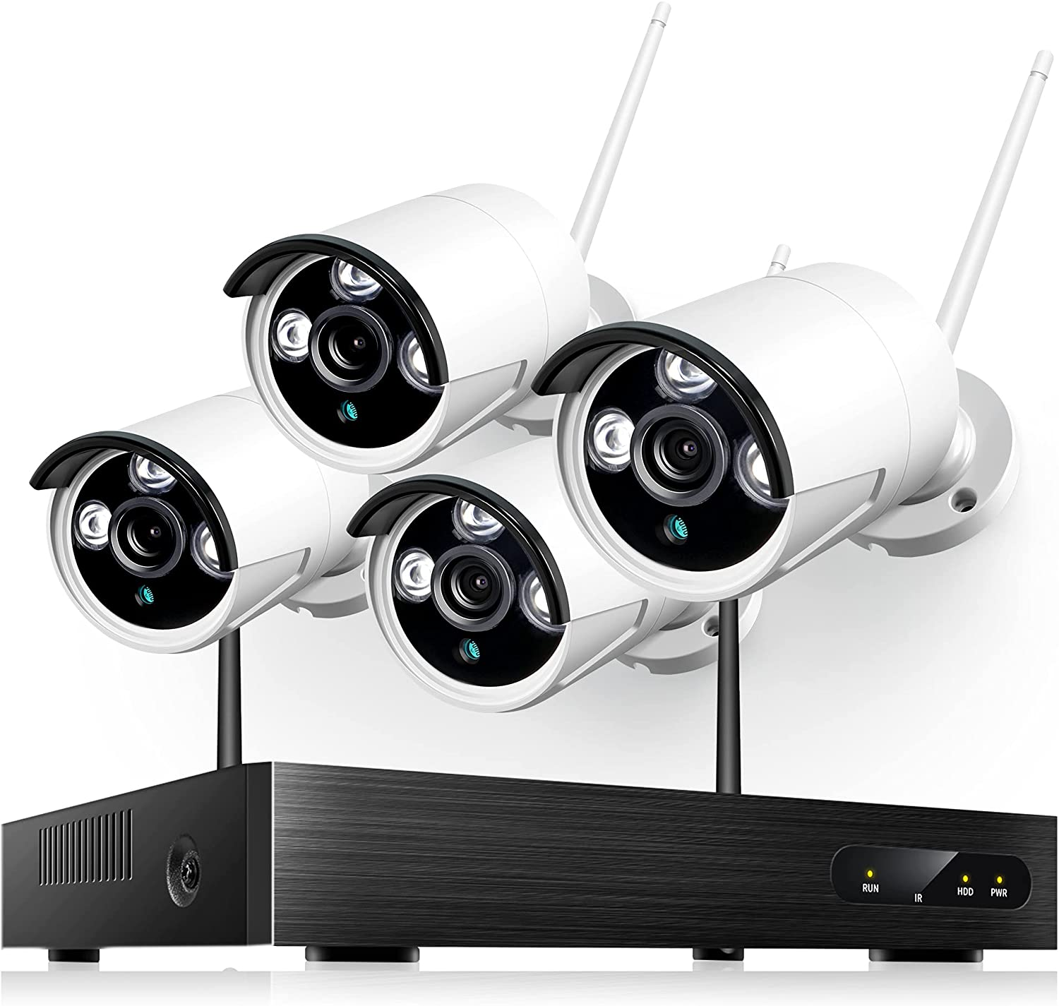 Heim Vision Wireless Security Camera 4Pcs 1080P Max 80% OFF low-pricing 8CH Outdoor NVR