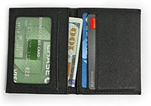 DASH Co. Slim Bifold Wallet • ID Window • Front Pocket • Compact Minimalist, Black, 3