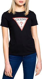 Guess T-Shirt Donna in Cotone biologico Regular fit Nero ES21GU08 W1RI00I3Z11