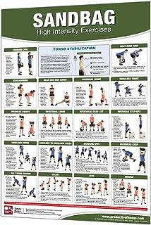 Productive Fitness Sandbag Poster Home Gym Workout Area Warmups Laminated