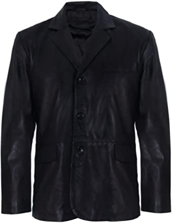 Men's Genuine Leather Blazer Soft Real Italian Tailore Vintage Jacket Coat