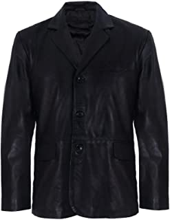 Men's Genuine Leather Blazer Soft Real Italian Tailore Vintage Jacket Coat