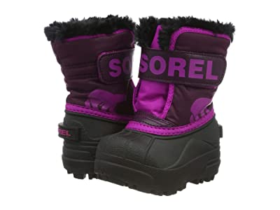 SOREL Kids Snow Commander (Toddler) (Purple Dahlia/Groovy Pink) Girls Shoes