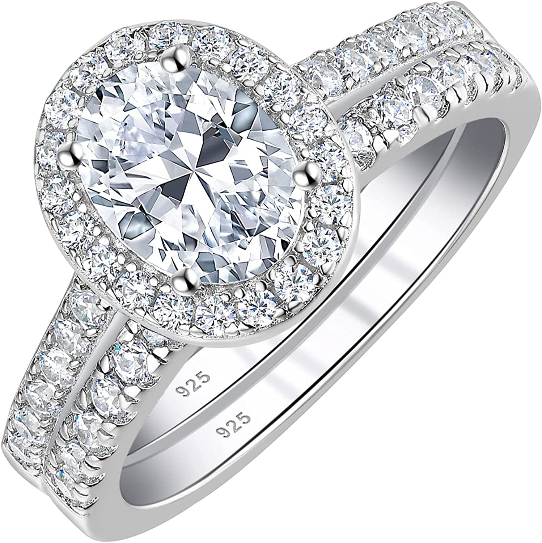 Wuziwen 2Ct Vintage Engagement Wedding Ring Set for Surprise 70% OFF Outlet price CZ Women 925
