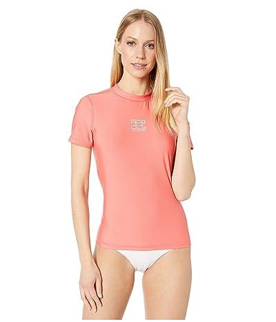 Billabong Core Loose Fit Short Sleeve Rashguard (Sunkissed Coral) Women