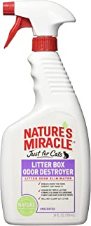 Nature's Miracle Just for Cats Litter Box Odor Destroyer, Unscented, 24-Ounce Spray
