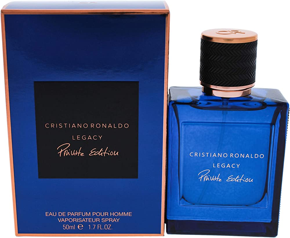 Christiano ronaldo legacy private edition, eau de profumo per uomo, spray, 50 ml 10004521