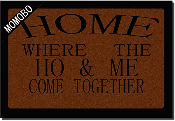 Funny Doormat Custom Indoor Doormat Home Where The Ho Me Come Together Home And Office Decorative Entry Rug Garden Kitchen Bedroom Mat Non Slip Rubber 23 6 X15 7 Inch