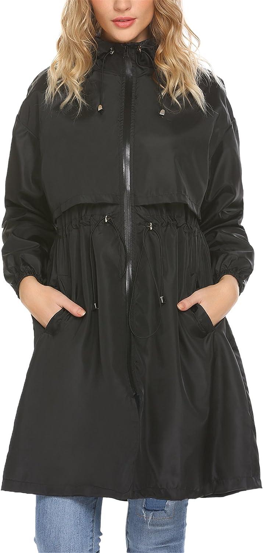 Mofavor Women's Lightweight Windbreaker Jacket Outdoor Active Coat with Hooded