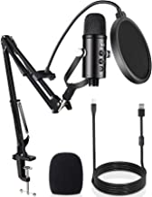 USB Condenser Microphone,DUTERID Professional USB Mic for Computer Kit with Adjustable Scissor Arm Stand Plug & Play Strea...
