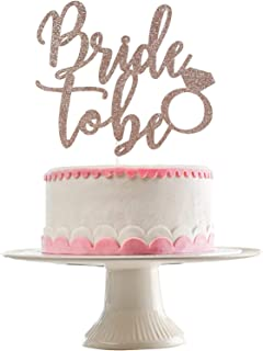 Festiko Rose Gold Glittery Bride to Be Cake Topper- Bachelorette Party Decorations,Wedding,Bridal Shower Engagement Party ...