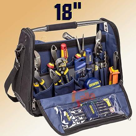 """Irwin IW14080, Mala para Ferramentas Tool Center 18"""", Preto e Azul"""