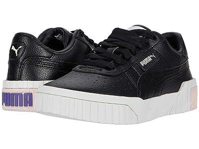 PUMA Kids Cali (Big Kid) (Black/Rosewater/Purple Corallites) Girls Shoes