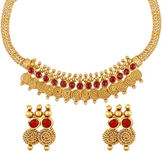 22K Traditional Indian Bollywood Designer Gold Coin Necklace Jewelry Set for Girls & Women (SJ_2690)