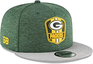 New Era Green Bay Packers 2018 NFL Sideline Road Official 9FIFTY Snapback Hat