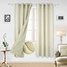 ستائر نافذة جروميت للحمام من ديكونوفو , بيج 52×84 بوصة