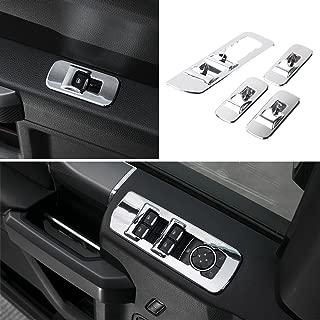 Black Landparts Interior Decoration Inner Door Handle Cover Trim Kit Interior Accessories for Ford F150 2016-2019