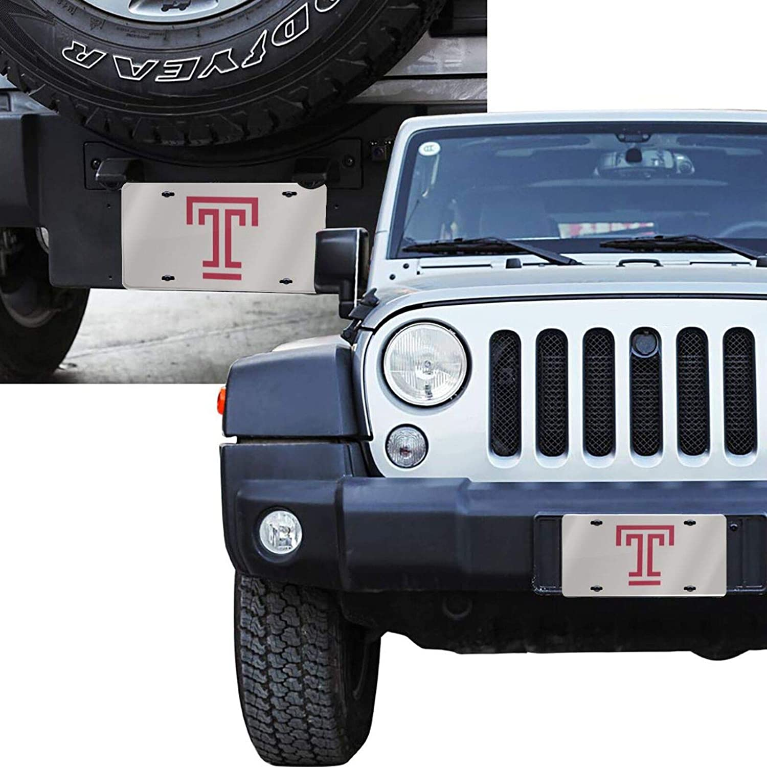 Amacgc Te-Mple University Durable and Strong Aluminum Car License Plate 6inch X 12inch