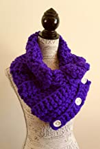 Bright Purple Button Scarf. Chunky. Made By Bead Gs On AMAZON