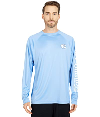 Columbia College North Carolina Tar Heels Terminal Tackletm Long Sleeve Shirt (White Cap/White) Men