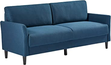Zinus Sofa Jackie 3 Seater Couch Fabric Lounge Chair - Navy Blue