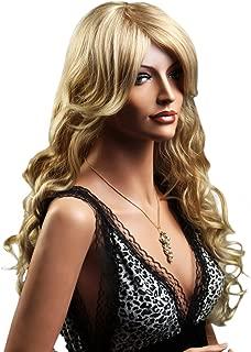 SONGMICS Peluca Larga Rubio para Mujer Ondulada Pelo Rizado WFY016