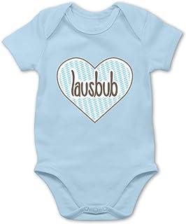 Shirtracer Oktoberfest & Wiesn Baby - Lausbub Herz - Baby Body Kurzarm für Jungen und Mädchen