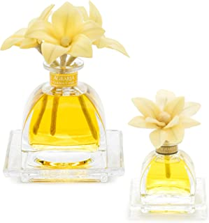 AGRARIA Golden Cassis AirEssence & PetiteEssence Diffuser Duo, 7.4 Ounces & 1.7 Ounces with Reeds and Flowers, Set of 2 Diffusers