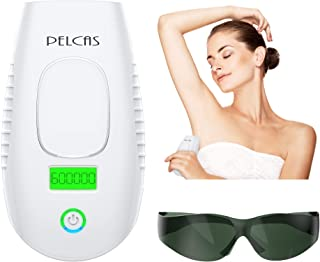 IPL Hair Removal Device 600000 Flashes PELCAS Laser Hair Removal Permanent Hair Remover Professional and Painless for Face, Armpits, Arm, Chest, Back, Bikini Line and Legs Home Use