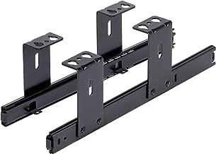 FIX&EASY Ladegeleiders voor toetsenbordlade, geleiderails zwart 300mm, Schuifladerails voor toetsenbord muis Keyboard en L...
