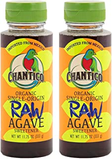 Sponsored Ad - Chantico Agave Sweetener (Raw Agave, 2 Pack of 11.75oz Bottles) Organic Natural Sugar Substitute with a Low...