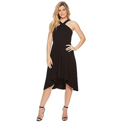 Calvin Klein Halter High-Low Dress CD8C14JK (Black) Women
