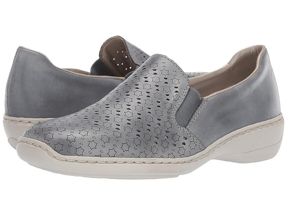 6d8f8da596 Rieker 413Q6-12 (White Denim) Women s Shoes