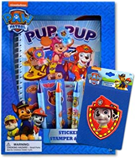 Paw Patrol Stickers Art Activity Set Stickers, Crayons, Stamps & Coloring Book Bundle with Specialty Adhesive Patch