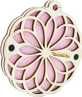 MeinAutoDuft.de Duftbaum (Mandala Pink)   Auto Lufterfrischer aus Holz und Filz   Premium Car Scent   Autoparfum mit Duftölen   30 Tage langanhaltender Auto Duft