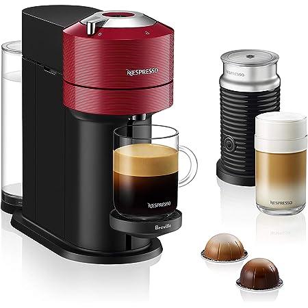 Nespresso BNV550RED Vertuo Next Espresso Machine with Aeroccino by Breville, Cherry