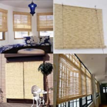 JQes Outdoor Reed Curtains, Filter Blinds, UV Protection Curtains, Hand-Woven Straw Curtains, Used for Outdoor/Indoor/Garden/Wall Decoration/Room Partition Curtains