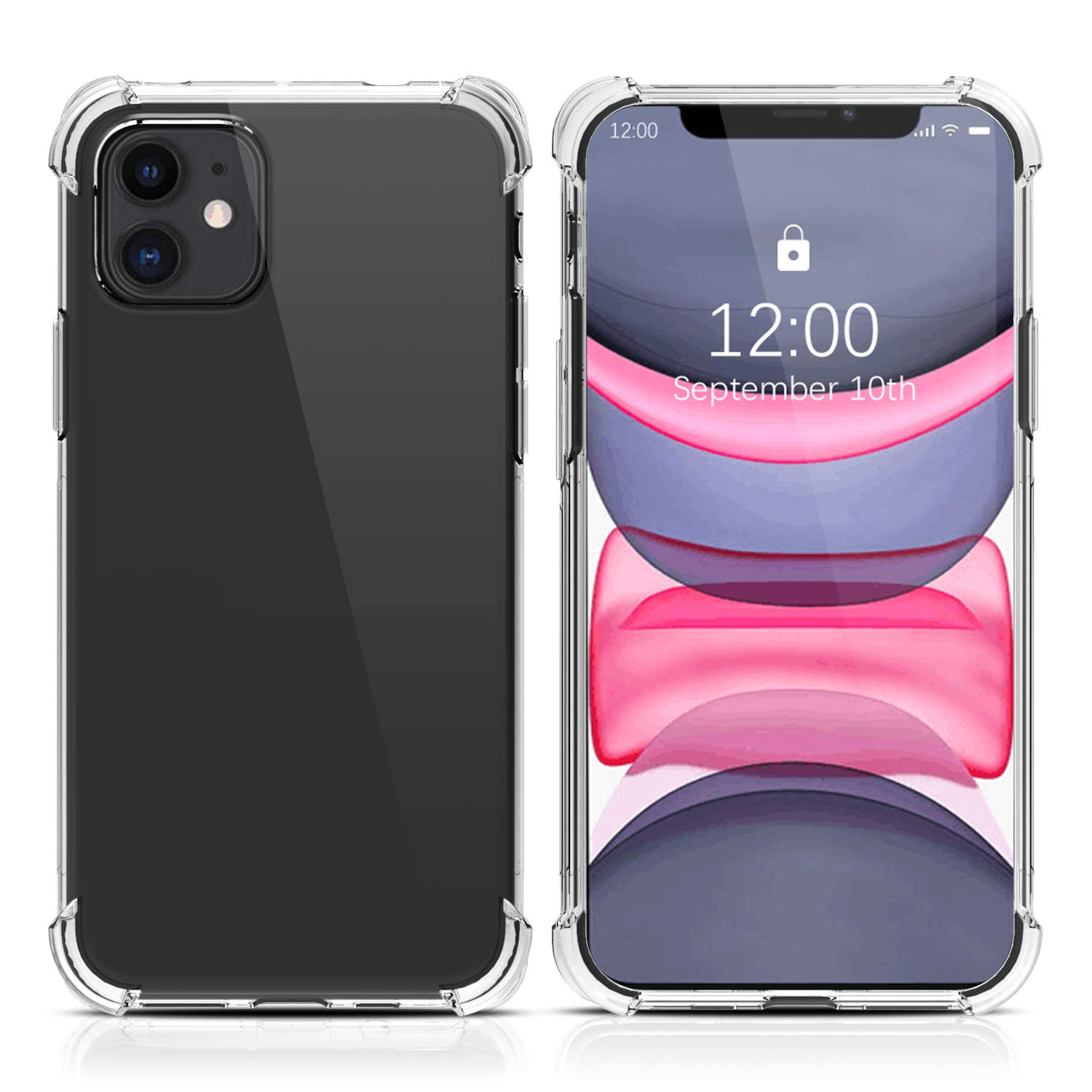 Migeec for iPhone 11 Case - Crystal Clear Hybrid Material Covers Air Cushion Gel Bumper Technology Full Protection Phone cases for iPhone 11 6.1 inch