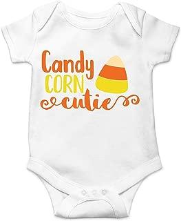 CBTwear Candy Corn Cutie - Halloween Door Knocking Costume - Cute Infant One-Piece Baby Bodysuit