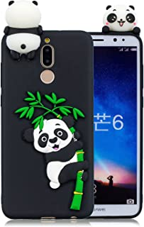 DAMONDY Huawei Mate 10 lite,Huawei Nova 2i Case, 3D Panda Cute Pattern Soft Gel Silicone Slim Design Rubber Skin Thin Protective Cover Phone Case for Huawei Mate 10 Lite-Black